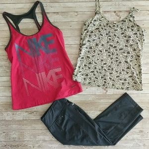 Nike, Lucy and Danskin active wear set of (3)